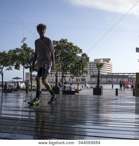 Modern Maremagnum Shopping Center At Port Vell Barcelona -