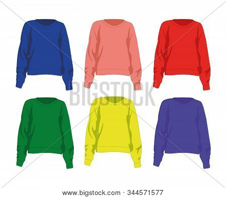 Jumper Different Colors Set Realistic Vector Illustration Isolated