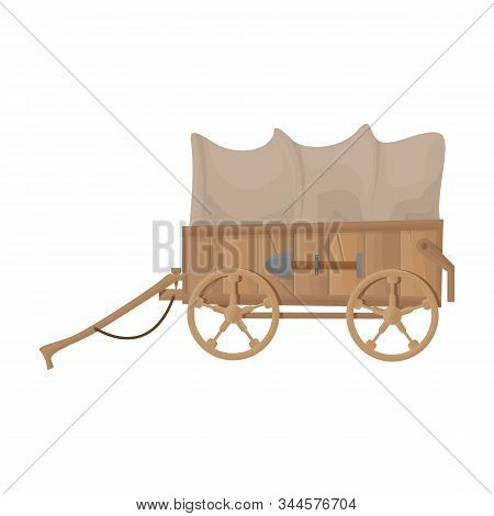 Western Carriage Vector Icon.cartoon Vector Icon Isolated On White Background Western Carriage.