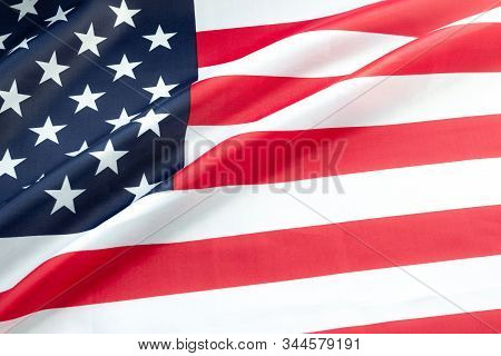 Martin Luther King Day. Flag of USA with copy space.