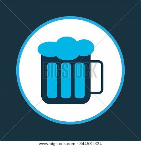 Beer Icon Colored Symbol. Premium Quality Isolated Froth Element In Trendy Style.