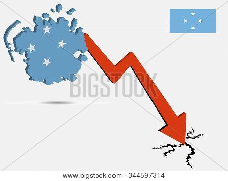 Federated States Of Micronesia Economic Crisis Vector Illustration Eps 10.