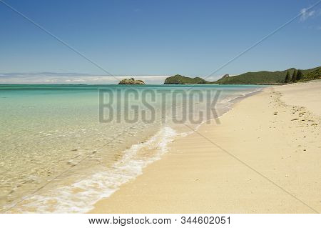 Northern Beach Of Lord Howe Island On A Perfect Blue Sky Summers Day