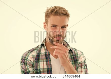 Preparation For Comfortable Trimming. Perfect Bristle Trimming Tips. Barber Hairdresser And Self Car