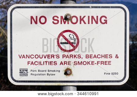 Vancouver, Canada - January 1, 2020: View Of Sign