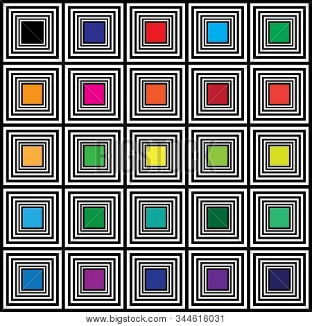 Color Swatches Hypnotic Square Color Targetsabstract Background