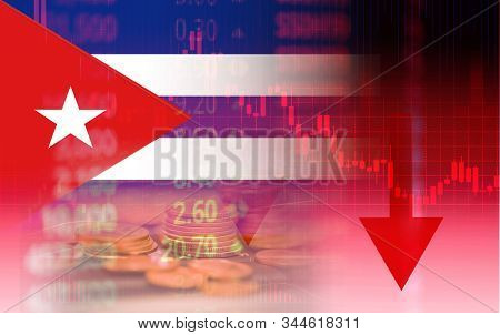 Cuba Crisis Economy Stock Exchange Down Chart Fall Graph Finance Cheap Oil , Oil Shortage / Economic