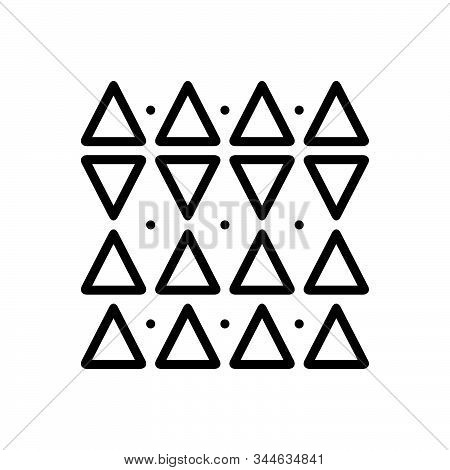 Black Line Icon For Discrepancies Shape Triangle Pattern  Opposite