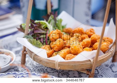 Deep Fried Mac And Cheese Ball Bites (japanese Karaage), Crisp Outside Yet So Soft, Creamy And Chees