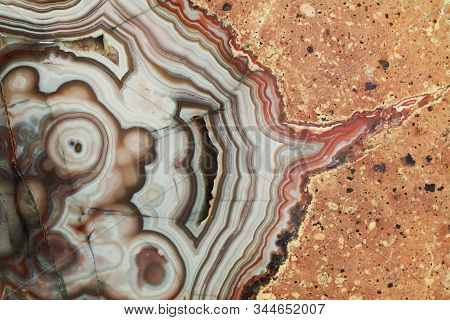 Agate Mineral Texture As Nice Natural Background