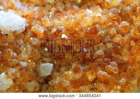 Citrine Mineral Texture As Very Nice Natural Background
