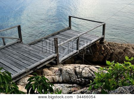 Old abandoned wooden jetty