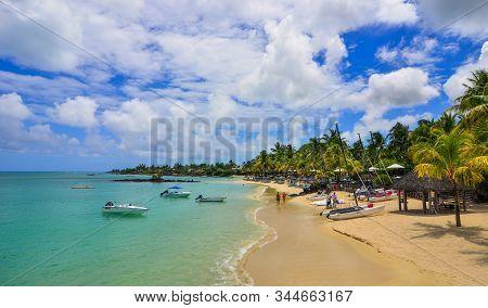 Beautiful Seascape Of Mauritius Island