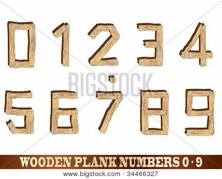 Wooden Plank Numbers