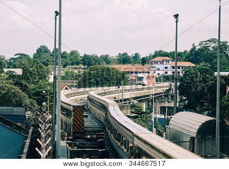 Kuala Lumpur, Malaysia - Jan 16, 2017. Mrt Station In Kuala Lumpur, Malaysia.  Mass Rapid Transit (k