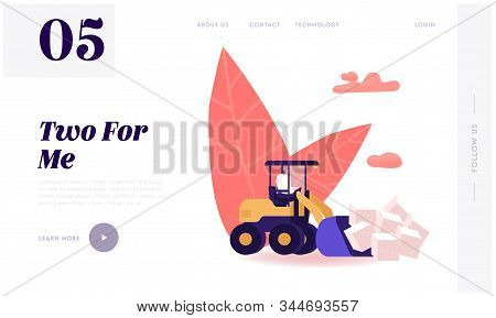 People Conducting Healthy Lifestyle Use Sweeteners Website Landing Page. Man Loading Huge Cubes Of W