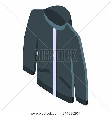 Winter Jacket Icon. Isometric Of Winter Jacket Vector Icon For Web Design Isolated On White Backgrou
