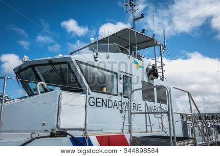 Les Sables D Olonne, France - July 24, 2016: Detail Of The Wheelhouse Of A Star Of The French Gendar