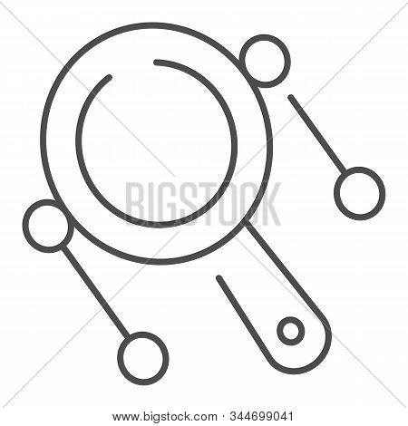 Rattle Drum Thin Line Icon. Mexican Pellet Drum Vector Illustration Isolated On White. Musical Instr