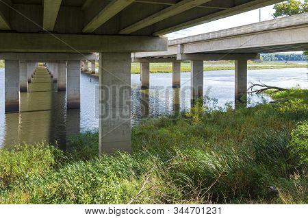 Under Highway 77 Or Cedar Avenue Bridge At Minnesota Valley National Wildlife Refuge In Bloomington