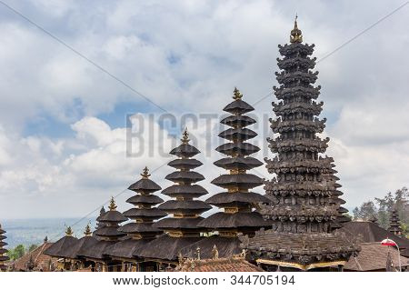 Towers Of The Besakih Temple On Bali, Indonesia