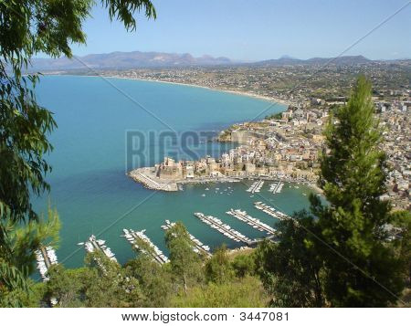 Elevated View Of Castellammare Del Golfo