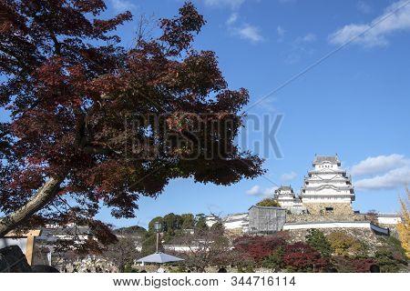 Himeji Castle The Unesco World Heritage Site In Himeji City Hyogo Japan In Autumn