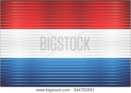 Shiny Grunge Flag Of The Netherlands - Illustration,  Three Dimensional Flag Of Netherlands