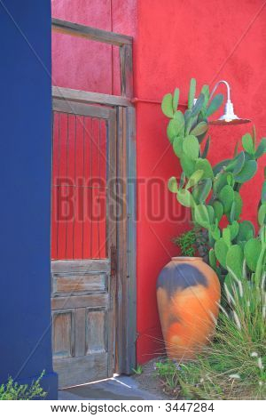 Colorful Door And Wall