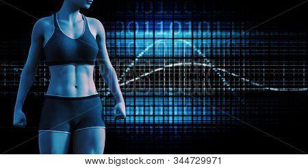 Human Body Presentation Background for Medical Anatomy Art 3D Render