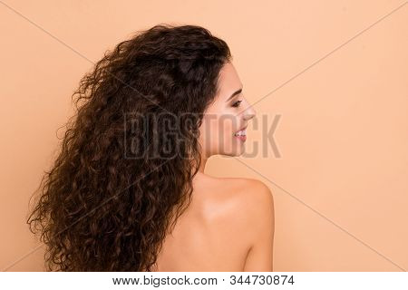 Close Up Back Rear Behind Photo Beautiful Amazing She Her Lady Tenderness Ideal Silky Soft Skin No N