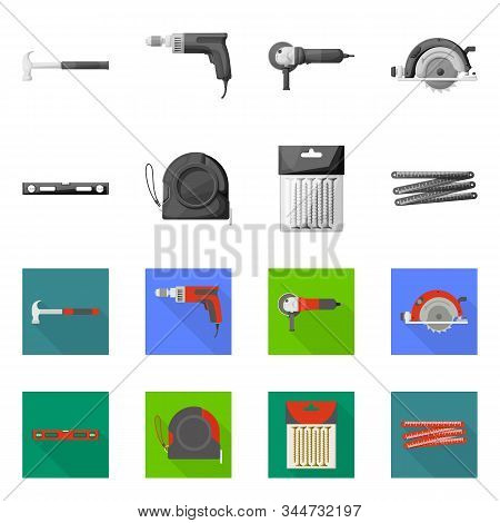 Vector Design Of Household And Repair Icon. Set Of Household And Overhaul Stock Symbol For Web.