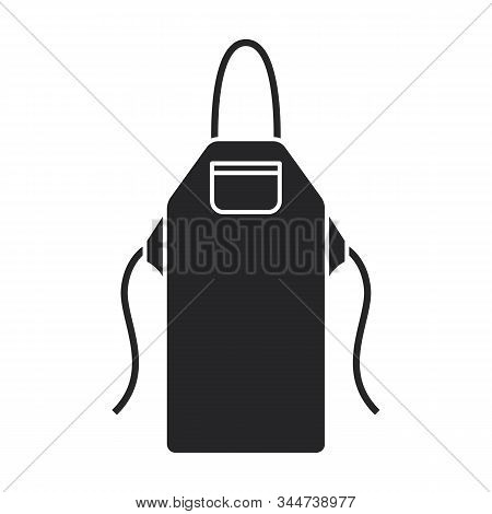 Apron Vector Icon.black Vector Icon Isolated On White Background Apron.