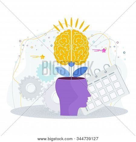 Brain Is Like A Tree Growing In A Human Head. The Development Of Thinking, Knowledge, Analytical Ski
