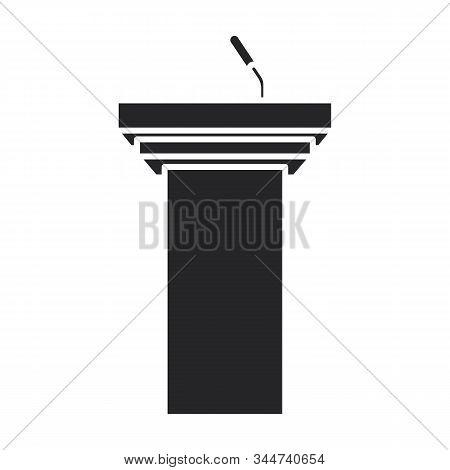 Tribune Vector Icon.black Vector Icon Isolated On White Background Tribune .
