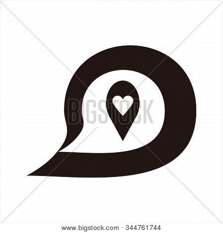 Message Icon, Icon With A White Background. Simple Icon. Message Icon Combined With A Picture Of A H