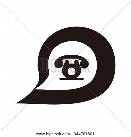 Message Icon, Icon With A White Background. Simple Icon. Message Icon Combined With A Picture Of The