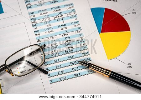 Balance Accounting Sheet In Stockholder Report Book, Balance Sheet