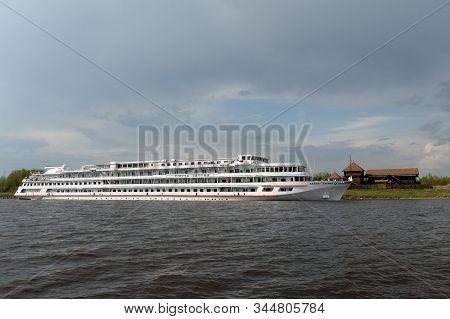 Sheksna,vologda Region, Russia - May 11, 2019:the Ship