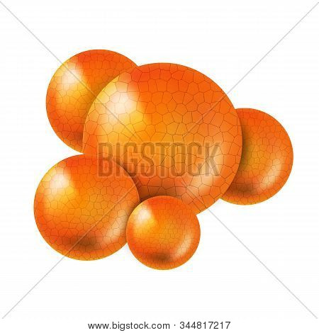 Microbiological Bacterium Sarcina Cocci Vector. Coccus Cells Bacterium Or Archaeon Spherical, Ovoid