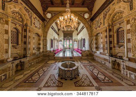 Beiteddine,Lebanon- April 28 : Emir Bachir Chahabi Palace Beit ed-Dine in mount Lebanon Middle east