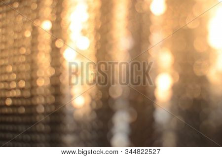 Abstract Luminous Blurred Goldy Background, Boke Light