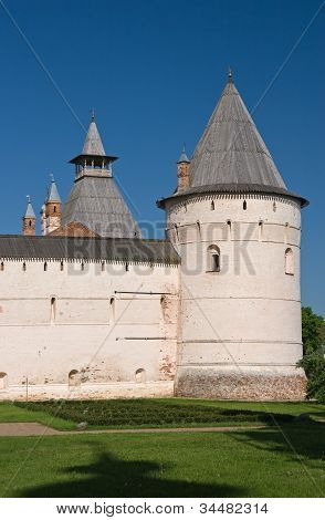 Tower and wall of Rostov kremlin