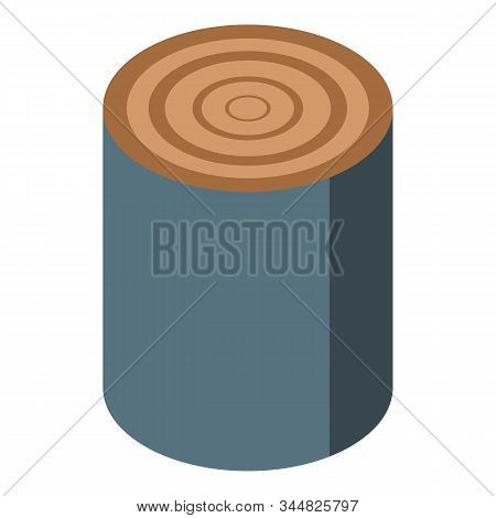 Natural Tree Stump Icon. Isometric Of Natural Tree Stump Vector Icon For Web Design Isolated On Whit