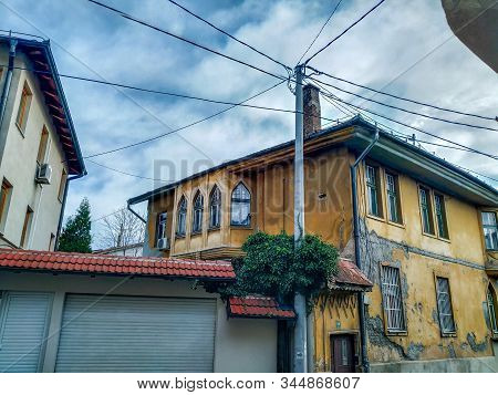 Old Looking House With Traditional And Oriental Design Style In The Neighborhood With Historical Loo