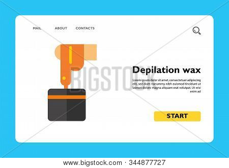 Depilation Wax Icon. Cosmetics, Sugaring, Waxing. Hair Removal Concept. Skin Care, Hygiene, Beauty S