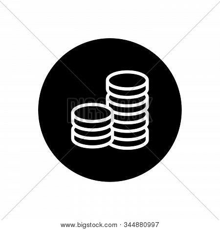 Business Dollar Coin Icon Design Vector Illustration