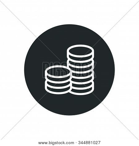 Business Money Coin Icon Design Sign And Symbol