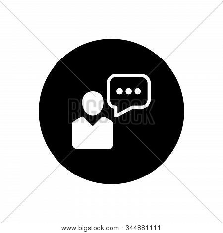 Business Official Chat Icon Design Vector Illustration