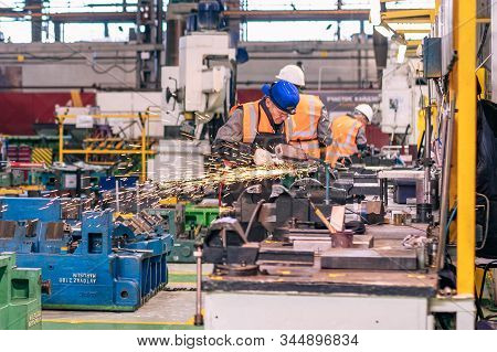 Izhevsk, Russia - December 14 2019: Assembly Line Production Of New Lada Vesta Car At Automobile Fac